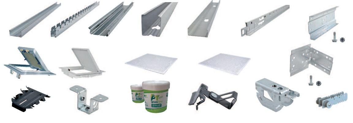 Ce trampillas esperfil sistemas para placa de yeso y for Perfiles techo desmontable
